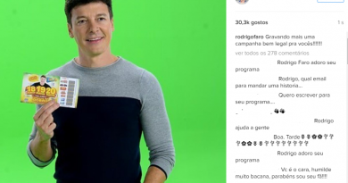 Rodrigo Faro está na propaganda da nova Tele Sena