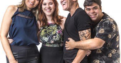 Eva, Ayrton, Ana Clara e Jorge no BBB 18 Foto: Família Lima Crédito: Globo / Paulo Belote