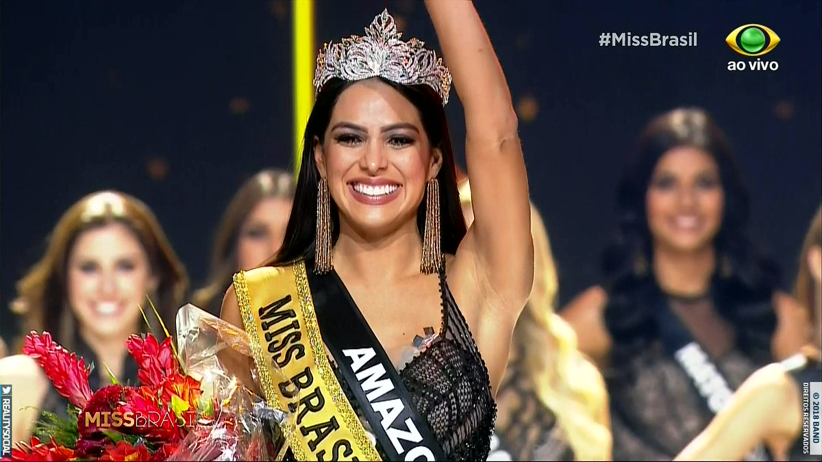 Miss Universo 2018 Quem Ganhou >> Miss Amazonas Mayra Dias é a Miss Brasil 2018; veja fotos | HORA BRASIL