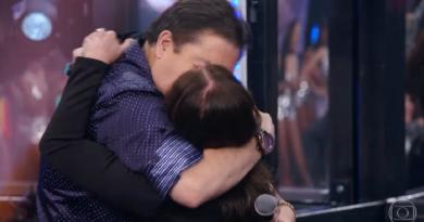 Faustão beija Susana Vieira; veja vídeo