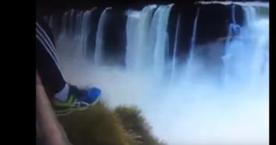 Brasileiro pula nas nas Cataratas do Iguaçu (Reprodução/ redes sociais)