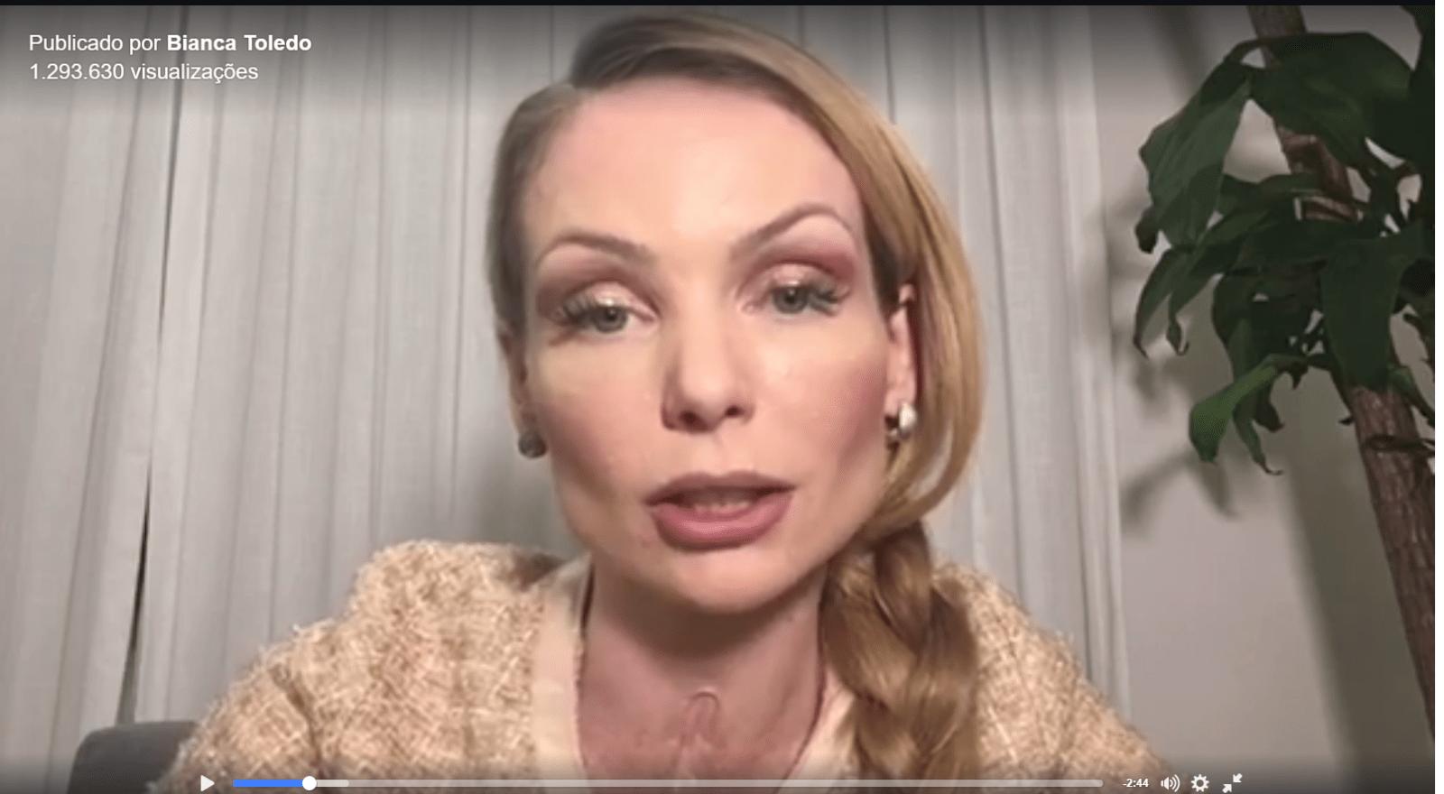 Bianca Toledo diz que separação é motivada por acusação de pedofilia