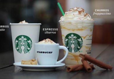 Starbucks acrescenta bebidas com sabor de churros ao cardápio