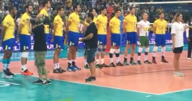 Brasil x Itália (Foto/ reprodução de vídeo do Instagram da CBV)