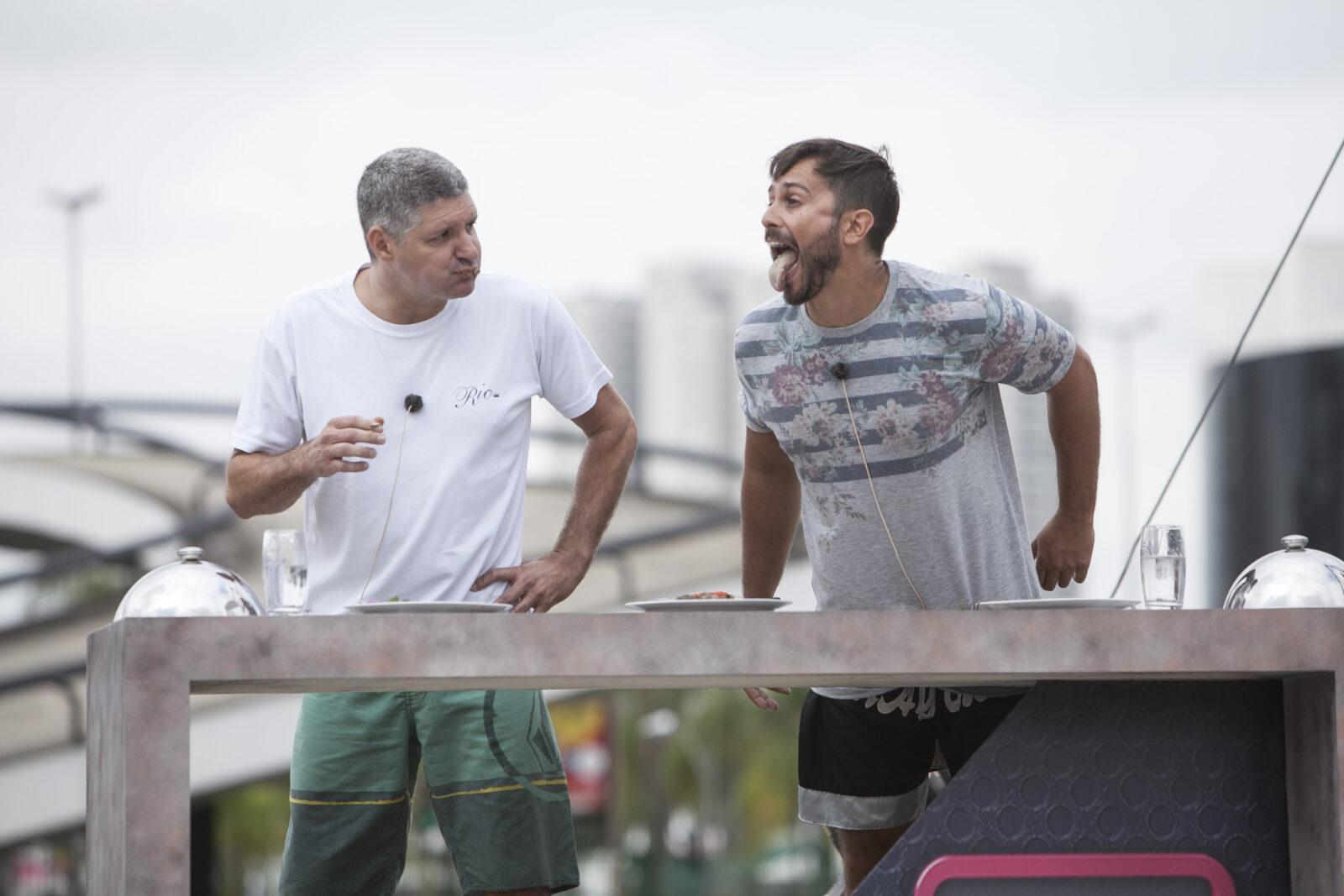 FOTOS DA PROVA DOS CASAIS DE HOJE no Power Couple Brasil: (Crédito das imagens: Edu Moraes/Record TV)