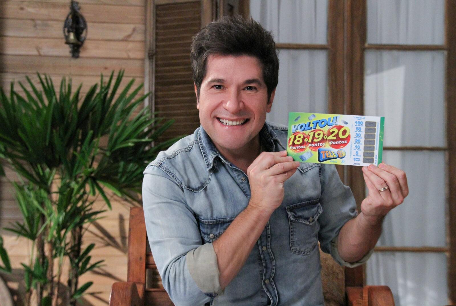 Cantor Daniel estrela campanha da nova Tele Sena de Pais (Foto/divulgação)