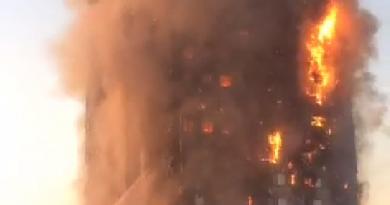 Prédio pega fogo em Londres e deixa feridos; veja fotos e vídeos