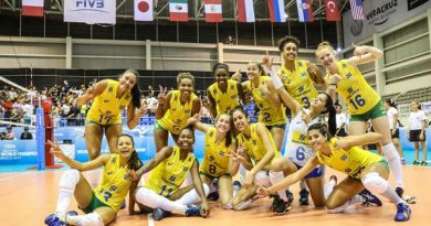Seleção brasileira feminina largou com vitória no México (Divulgação/FIVB)