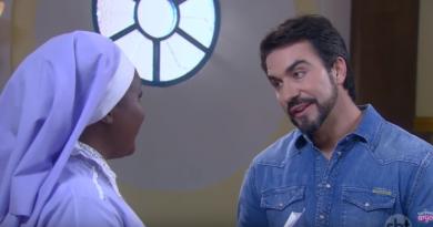 Padre Fábio de Melo grava clipe e é entrevistado por Dulce em Carinha de Anjo