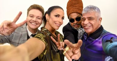 Michel Teló, Ivete Sangalo, Carlinhos Brown e Lulu Santos Crédito: Globo/Divulgação.