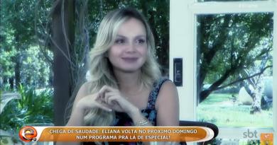 Eliana volta para o programa e apresenta sua filha, Manuela, na TV