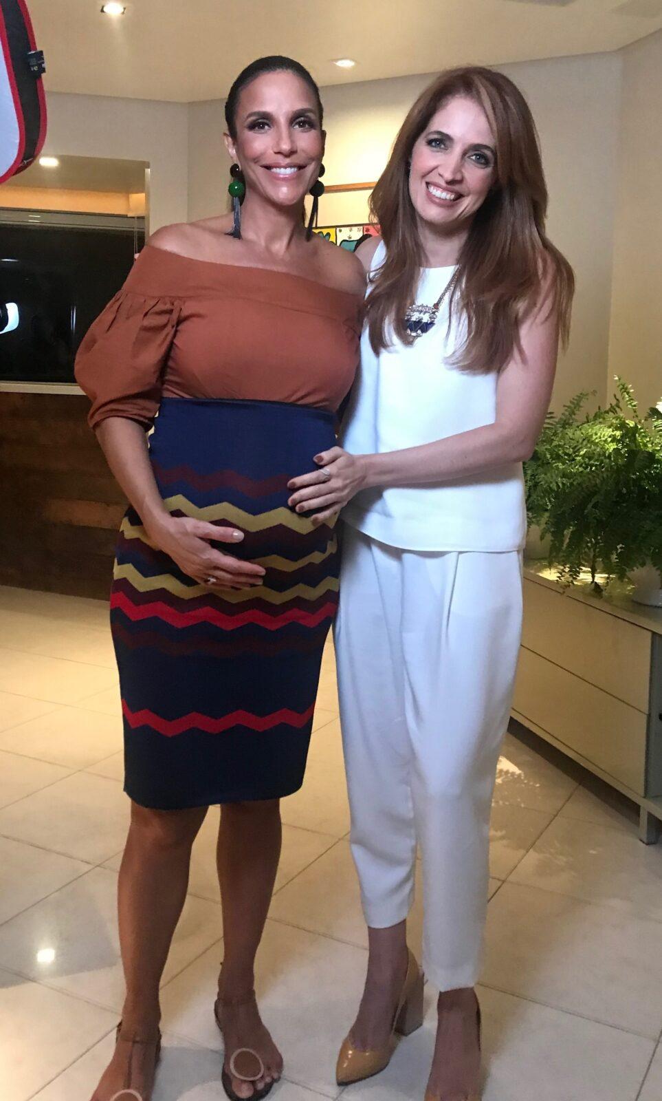 Ivete Sangalo revela para Poliana Abritta detalhes sobre seu tratamento para engravidar. Crédito: Globo/ Divulgação