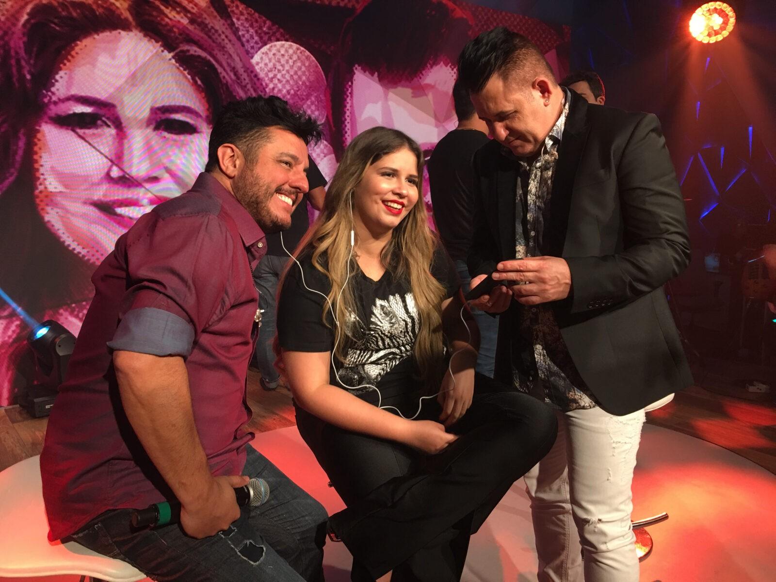 Marília Mendonça e a dupla Bruno & Marrone lançam nova música no 'Fantástico' deste domingo. Crédito: Globo/ Camila Crespo