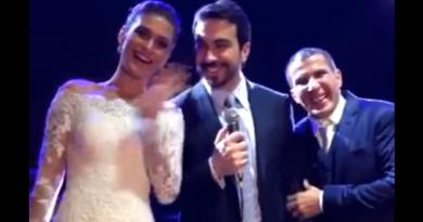 Casamento de Eri Johnson e Alice Souto chega ao fim (foto/reprodução vídeo snapchat Pe Fábio de Melo)