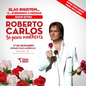 Ingressos para o show de Roberto Carlos em São Paulo começam a ser vendidos (Foto/ divulgação)