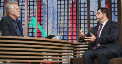 Pedro Bial entrevista Marcelo Bretas. Crédito: Globo/Rogério Fernandes
