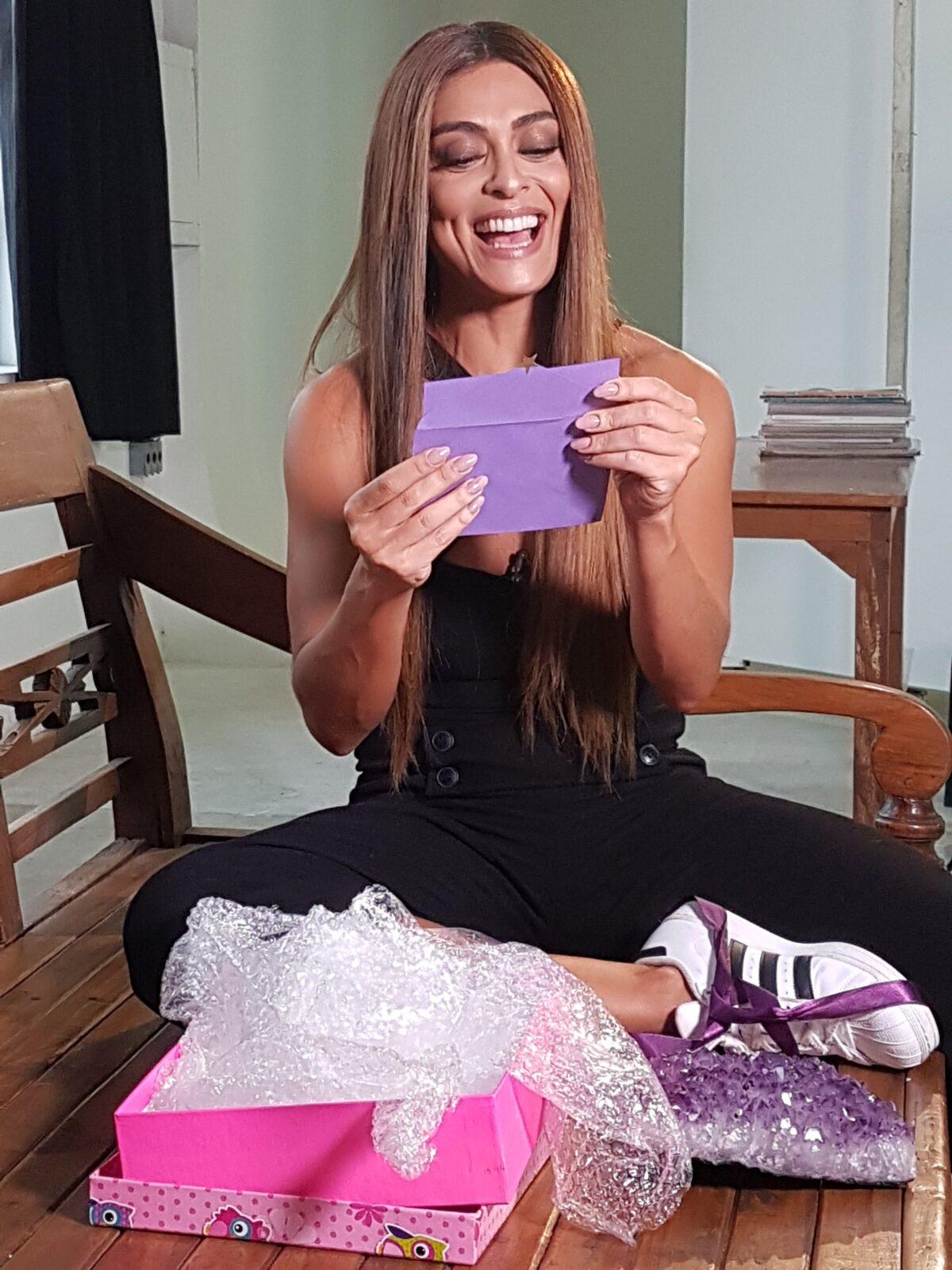 A atriz Juliana Paes participa do amigo-oculto do 'Fantástico'. Crédito: Globo/ Maria Scodeler