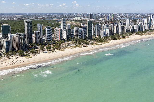 Praia do Pina, local no qual o Globocop caiu