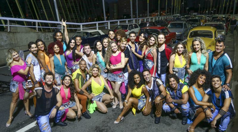 Estrelas da terceira temporada do Dancing Brasil gravam vinheta de abertura em famosa ponte de São Paulo Crédito das imagens: Edu Moraes/Record TV, Antonio Chahestian/Record TV e Blad Meneghel