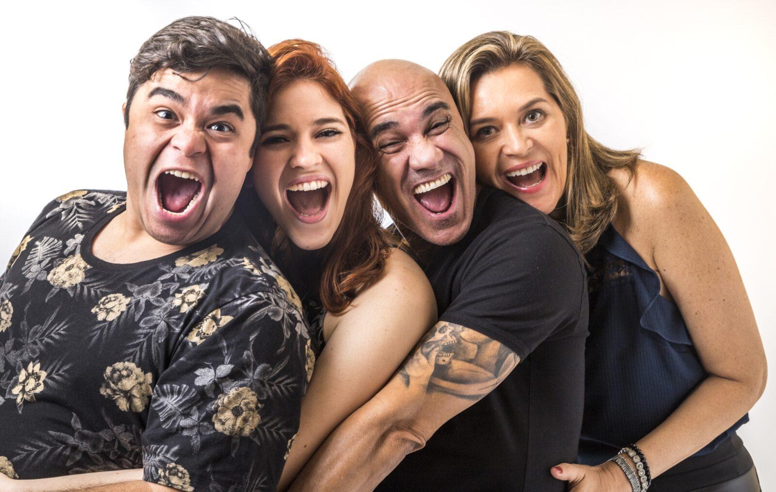 eliminação da família Lima Eva, Ayrton, Ana Clara e Jorge no BBB 18 Foto: Família Lima Crédito: Globo / Paulo Belote