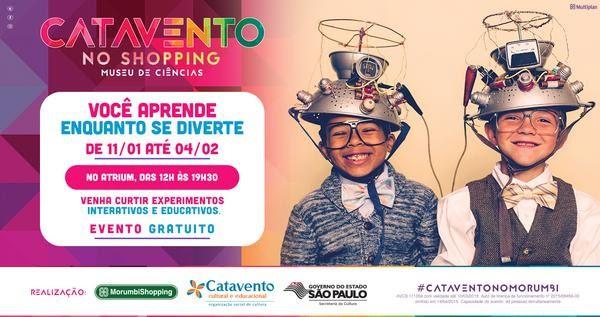 Exposição gratuita do Museu Catavento será realizada no MorumbiShopping