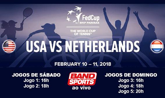 Fed Cup 2018: horário da transmissão ao vivo na TV