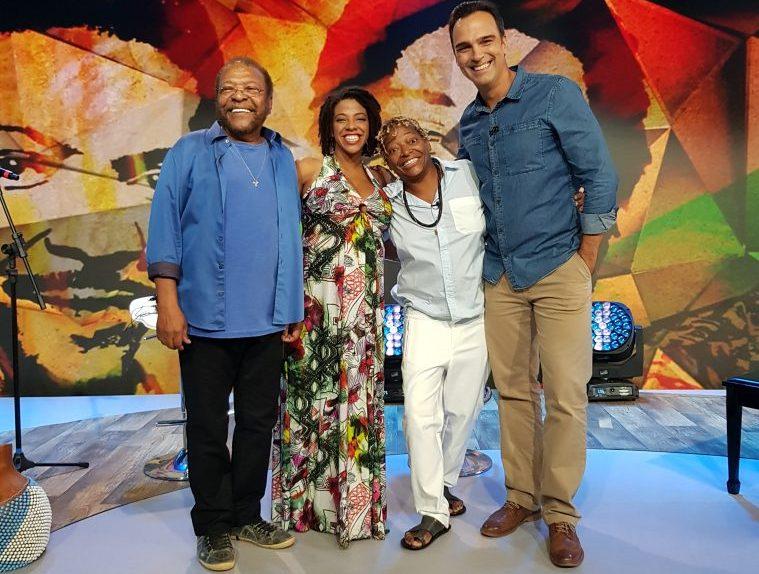 Tadeu Schmidt recebe Martinho da Vila, Maíra de Freitas e Mart`nália para um musical especial. Crédito: Globo/ Nathalia Fernandes