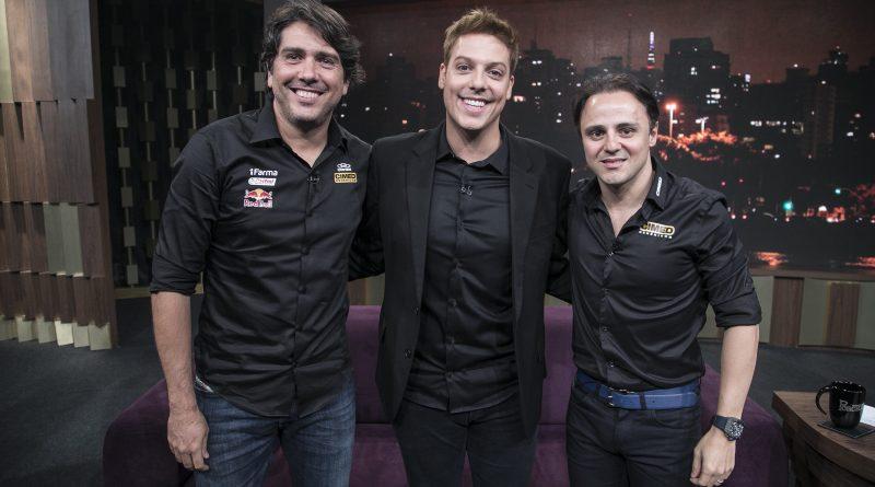 Felipe Massa e Cacá Bueno estão no Programa do Porchat