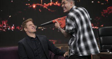 PROGRAMA DO PORCHAT - Talk show recebe o cantor MC Kevinho (Crédito das fotos: Edu Moraes/Record TV)