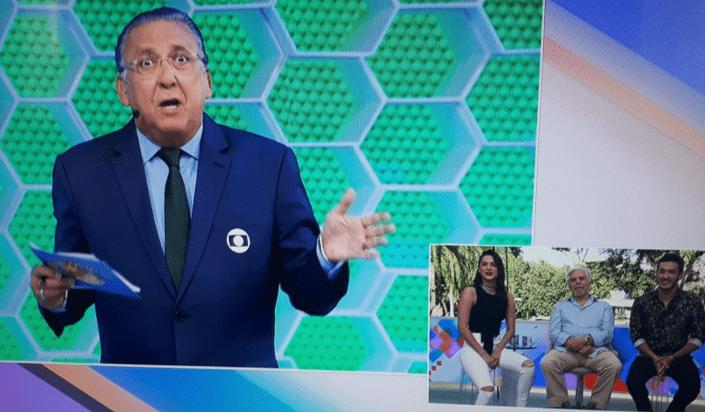 Galvão Bueno se confunde e manda 'boa tarde' para Sonia Abrão