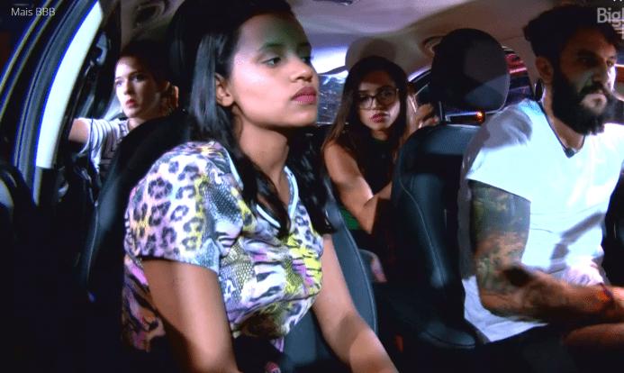 Grupo do carro preto na prova do líder de resistência (Foto/reprodução TV Globo)