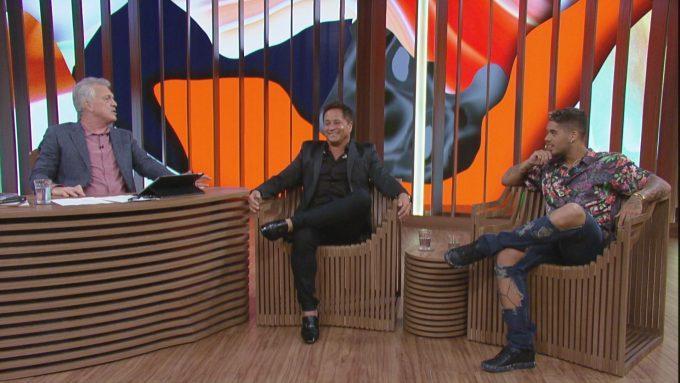 Fotos: Leonardo e Zé Felipe participam do 'Conversa com Bial'. Créditos: Globo/Divulgação