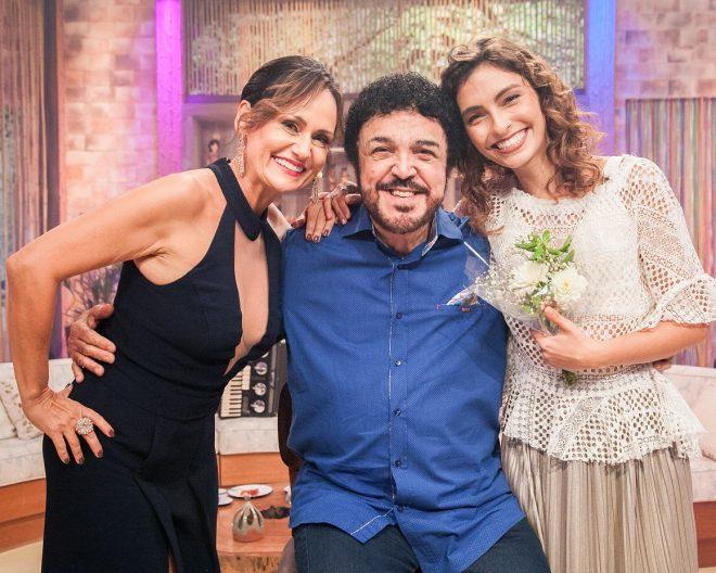 Faa Morena recebe Bruna Caram e Luiz Ayrão no 'Ritmo Brasil' deste sábado (5) *Crédito/Fotos: Divulgação/Andrea Dallevo