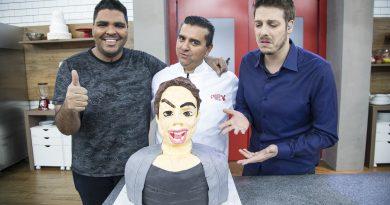Batalha dos Confeiteiros terá a visita de Fábio Porchat e Paulo Vieira Crédito das fotos: Edu Moraes/Record TV