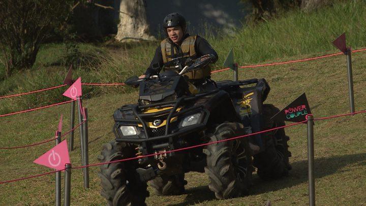Power Couple Brasil: prova dos homens terá esporte e enigma Crédito das imagens: Divulgação/Record TV