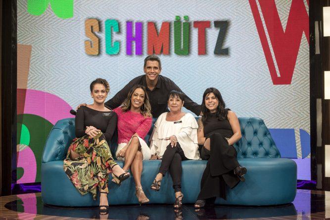 Márcio Garcia recebe as famílias do Padre Fabio de Melo e da atriz Samanta Schmutz Crédito - Globo/Isabella Pinheiro