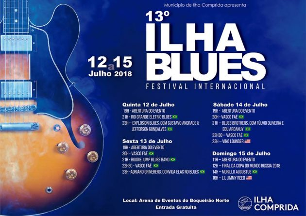 13º Ilha Blues Festival Internacional: veja a programação de shows