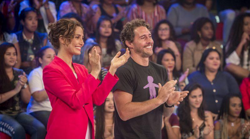 Camila Pitanga e Flavio Canto no Caldeirão do Huck – Globo/João Cotta
