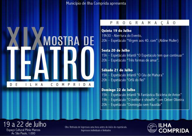 XIX Mostra de Teatro da Ilha: veja a programação gratuita