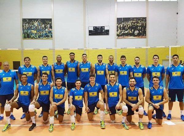 Brasil x República Dominicana Seleção brasileira masculina inicia busca pelo título da Copa Pan-Americana (Divulgação/CBV)