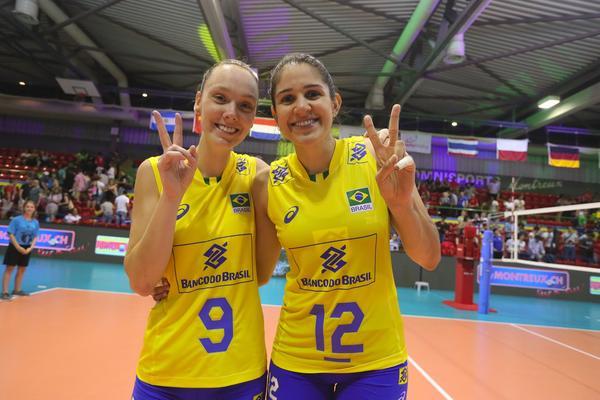 Roberta e Tandara na edição de 2017 (Divulgação/Montreux Volley Masters)