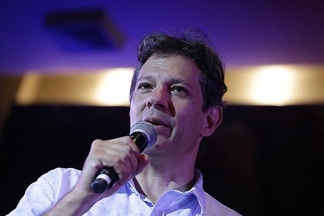 Fernando Haddad durante Ato com Artistas e Intelectuais realizado em São Paulo em 18 de janeiro de 2018. Crédito: Sérgio Silva