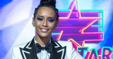 Taís Araujo no palco do PopStar, pronta para o primeiro programa da temporada Crédito: Globo / Estevam Avelar
