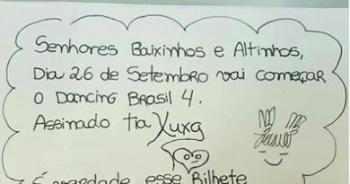 Xuxa anuncia início do Dancing Brasil e avisa: 'É verdade esse bilhete'