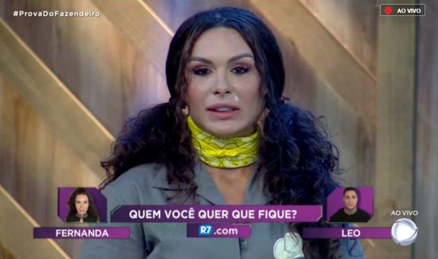 Fernanda ou Léo? Acompanhe ao vivo e veja quem foi eliminado de A Fazenda 10