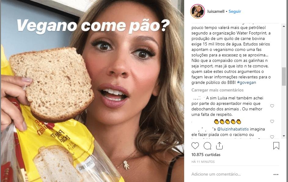 Luisa Mell detona Tiago Leifert após polêmica do BBB 19