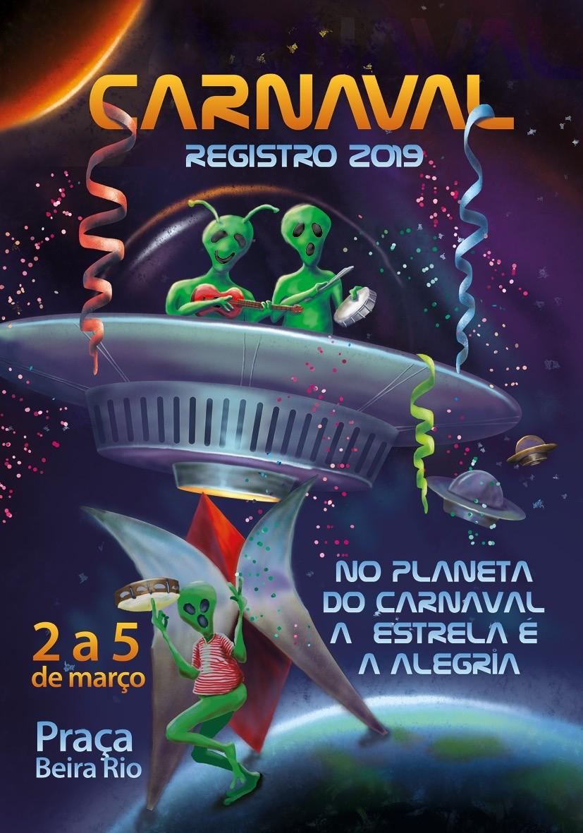 Programação do Carnaval 2019 em Registro -SP