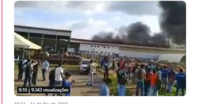 Galpão da usina de Belo Monte, no Pará, pega fogo