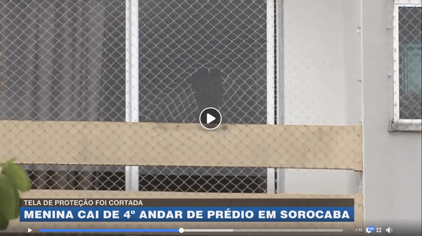Menina cai de prédio em Sorocaba - SP; veja vídeo