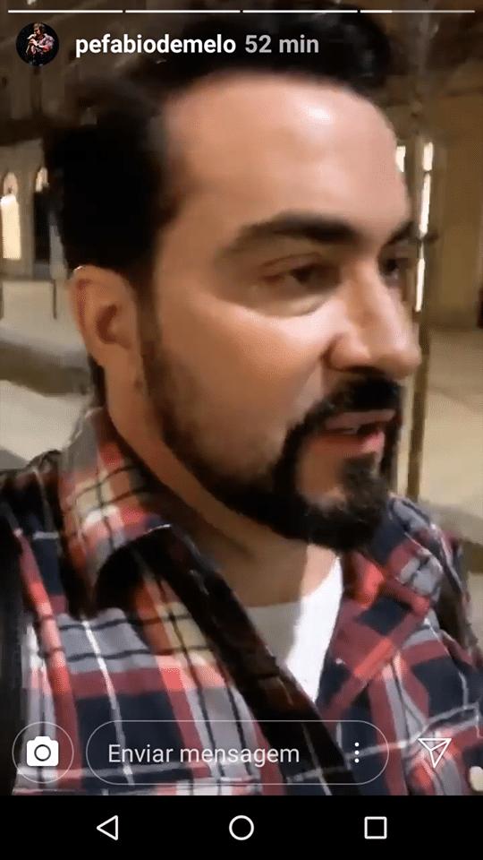 Padre Fabio de Melo mostra novo corte de cabelo (Foto/reprodução Instagram)